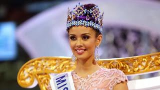 La Philippine Megan Young reçoit la couronne de Miss Monde 2013, samedi 28 septembre à Bali (Indonésie)