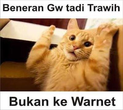 Gambar Meme Lucu Saat Tarawih