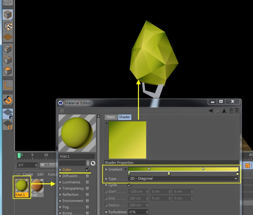 Low-Poly & GI Baking in Cinema 4D 08