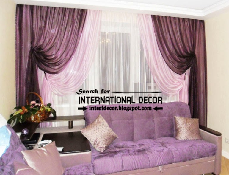 largest catalog of purple curtains and drapes, tie back purple curtain 3 layers for living room