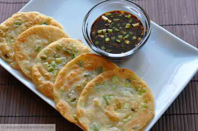 Chinese Scallion Pancakes /Cong You Bing with Ginger-Soy- Dipping ...