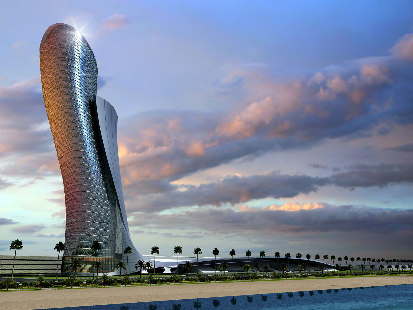 Architecture Art Code Amp Facade Capital Gate At Abu Dhabi