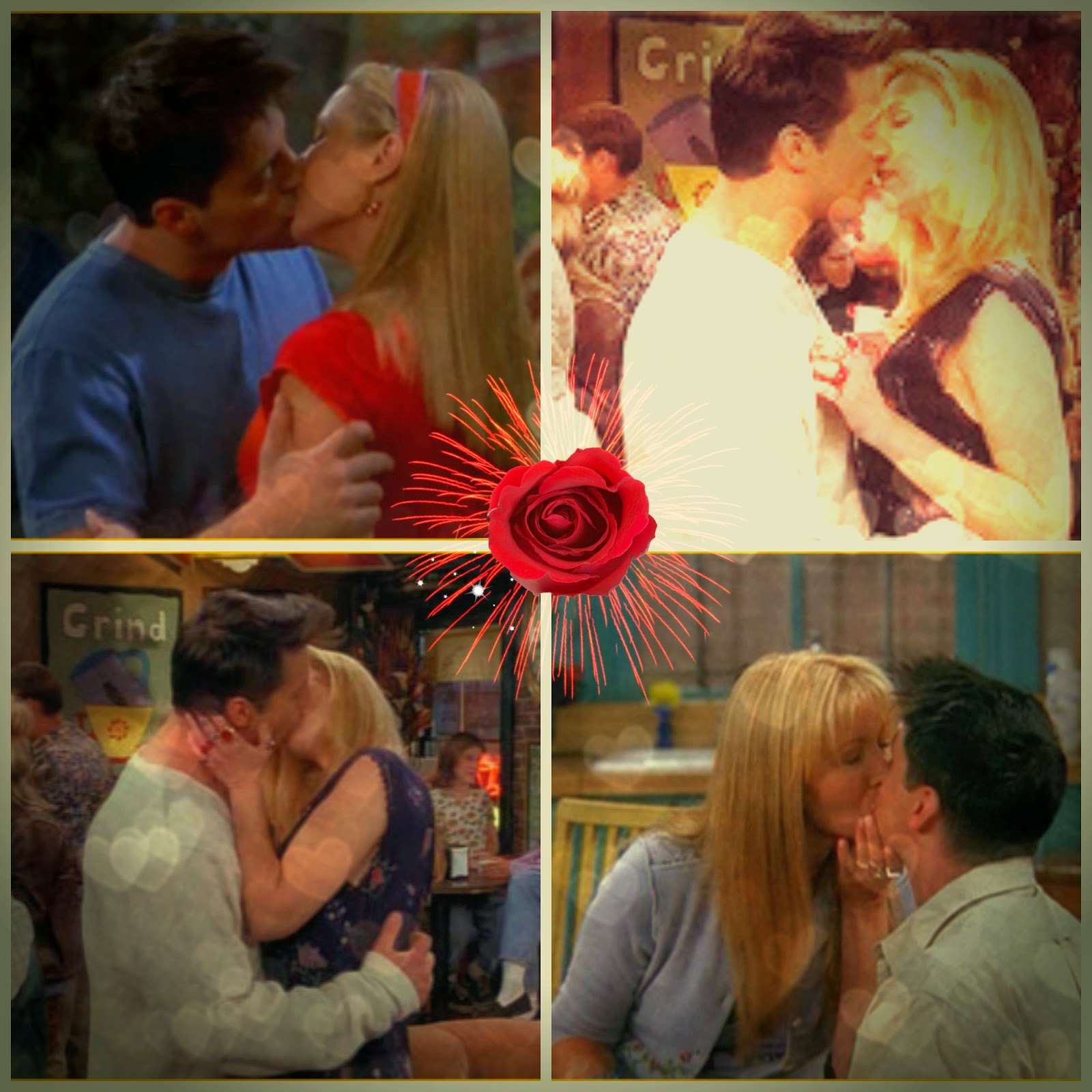 Besos de Joey y Phoebe de la serie Friends