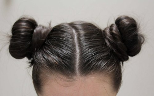 Natural Hair Bun With Pigtails