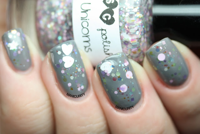 Manicurity | Trelly's M.I.S.C Polish Summer 2013 Collection - Dreaming of Unicorns over Pure Ice Kiss me Here