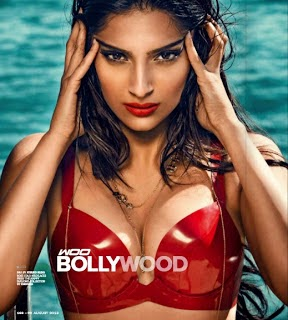 Sonam Kapoor Showing Huge Clevage Photoshoot