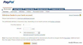 Cara add bank account di Paypal