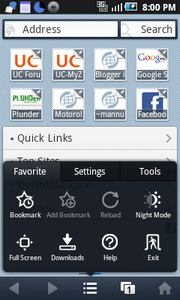 Uc Browser 7.8for Android