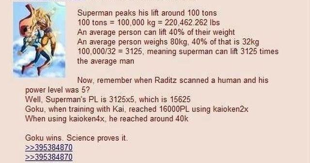 Goku vs. Superman ~ picaccelerator Goku Vs Superman Science