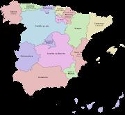 Comunidades autónomas españolas y sus provincias (mapa de las comunidades autonomas de espana)
