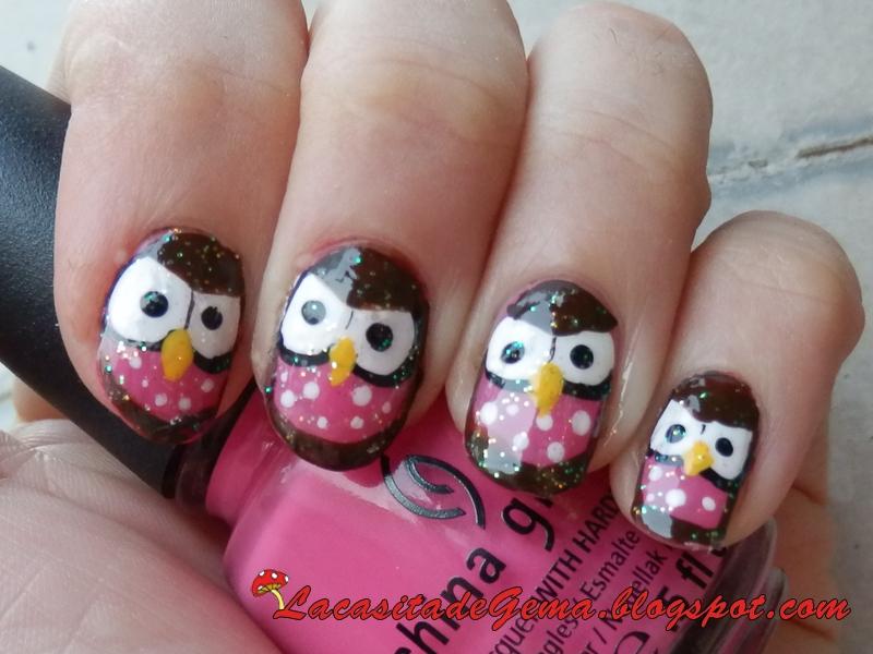 Tutorial uñas decoradas (Nail art) Nº46 Uñas búhos