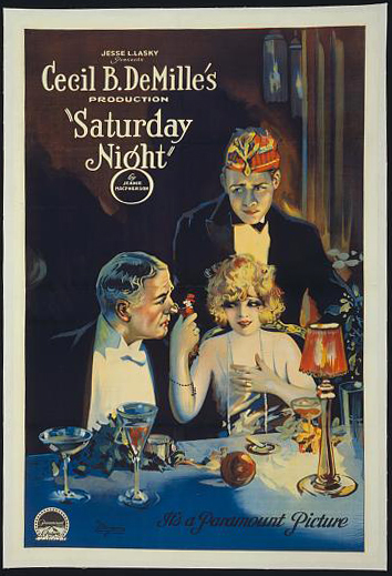 movies, poster, vintage, vintage posters, retro prints, classic posters, free download, graphic design, Cecil B. DeMille's Saturday Night, Paramount Picture - Vintage Movie Poster