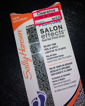Sally Hansen Salon Effects Pedicure Nail Polish Strips in Snake Rattle and Roll