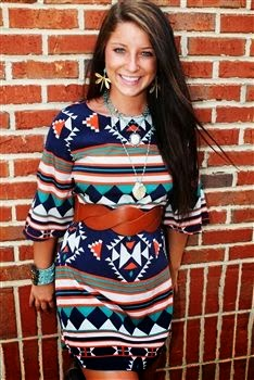 Aztec dress. (Minus these accessories)