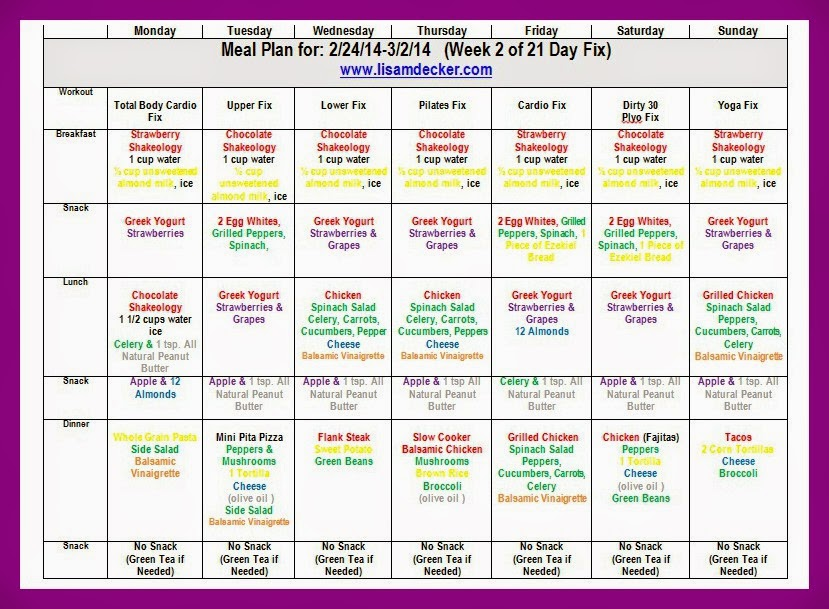 21 Day Fix, 21 Day Fix Meal Plan, Clean Eating