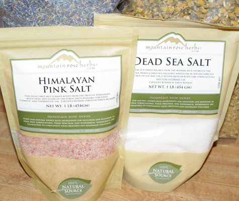 Himalayan Pink Salt and Dead Sea Salt