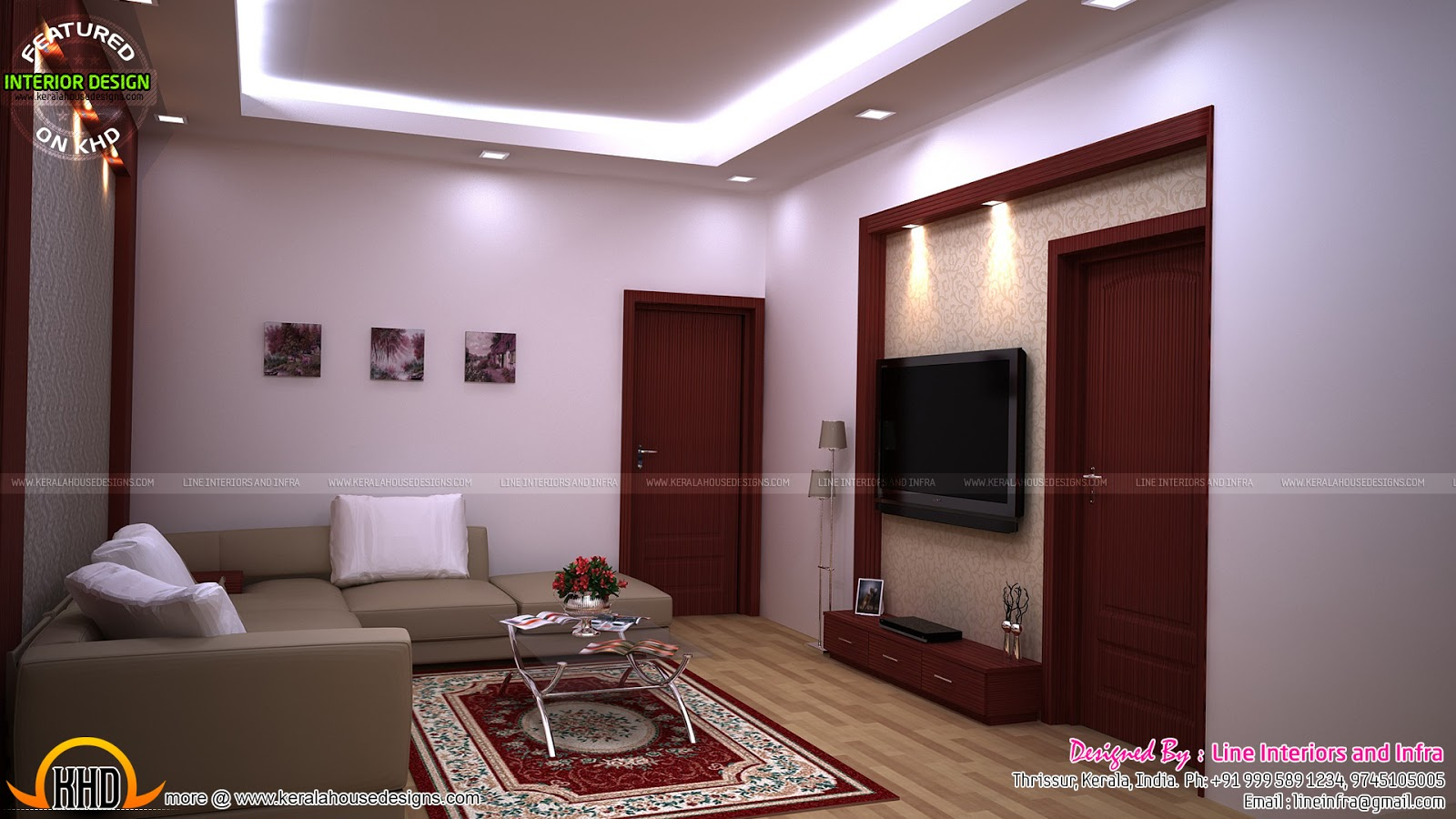 Modular kitchen bedroom dining interiors in kerala for Bedroom designs in kerala