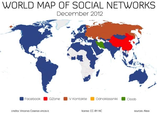 facebook qzone cloob  odnloklassniki vkontakte