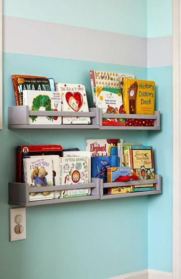 especieros de ikea convertidos en librerías de cuentos