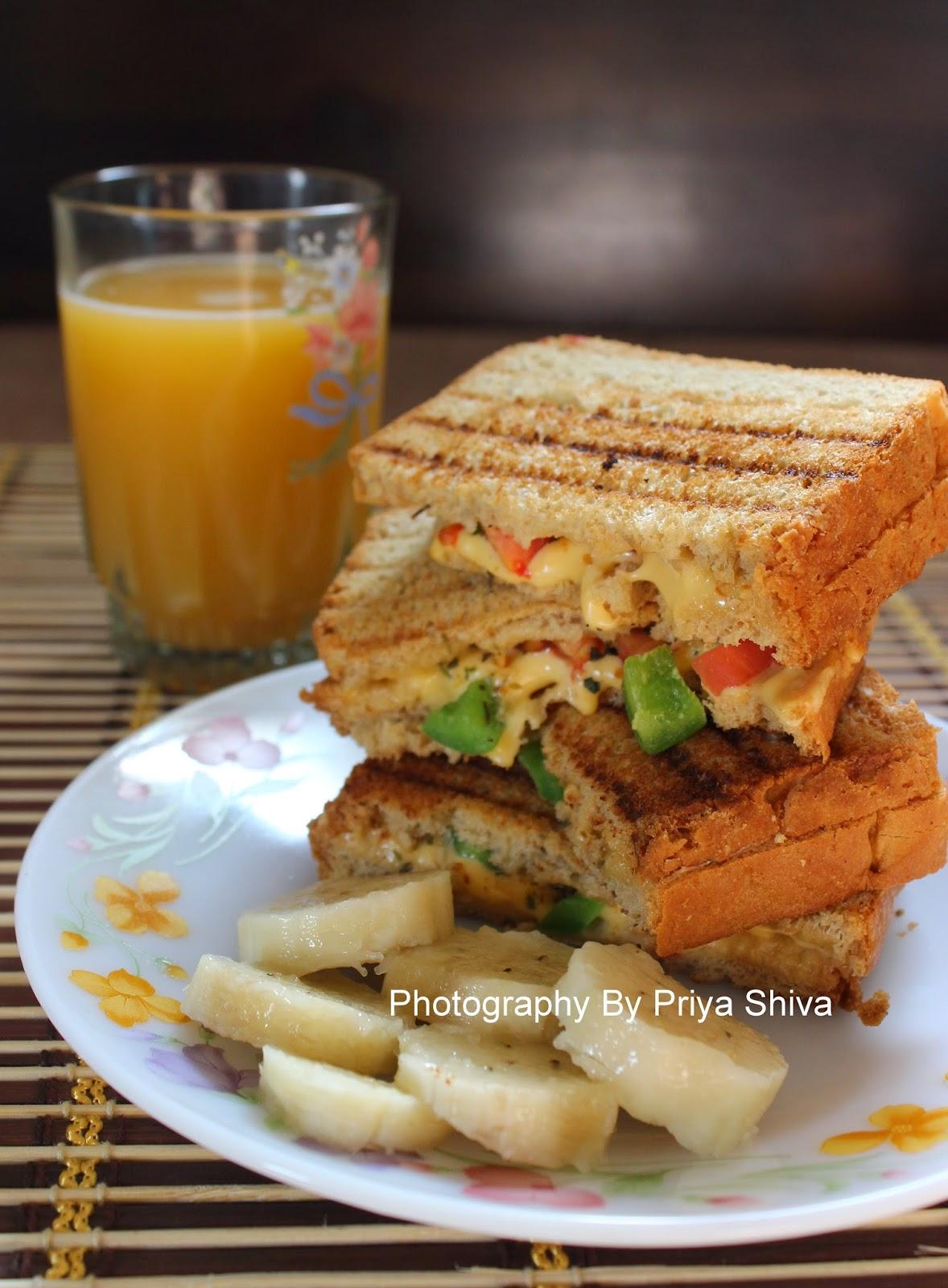 Sandwich, Bell Pepper Sandwich, Cheese Sandwcih
