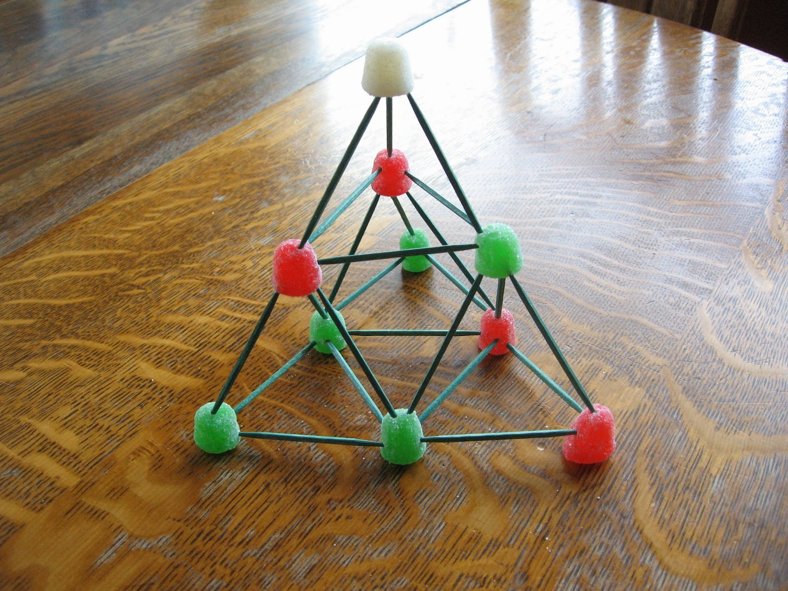 gumdrop and toothpick sierpinski christmas trees