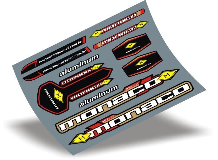 Armario Antiguo Restaurado ~ Stickers Design Adesivo bike Monaco Aluminum