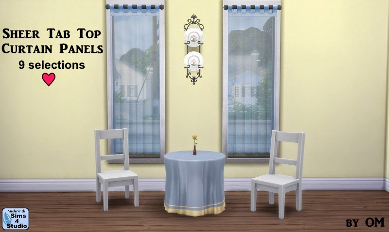 My Sims 4 Blog Sheer Tab Top Curtain Panels By Om