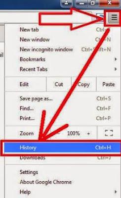 gambar cara hapus history google chrome