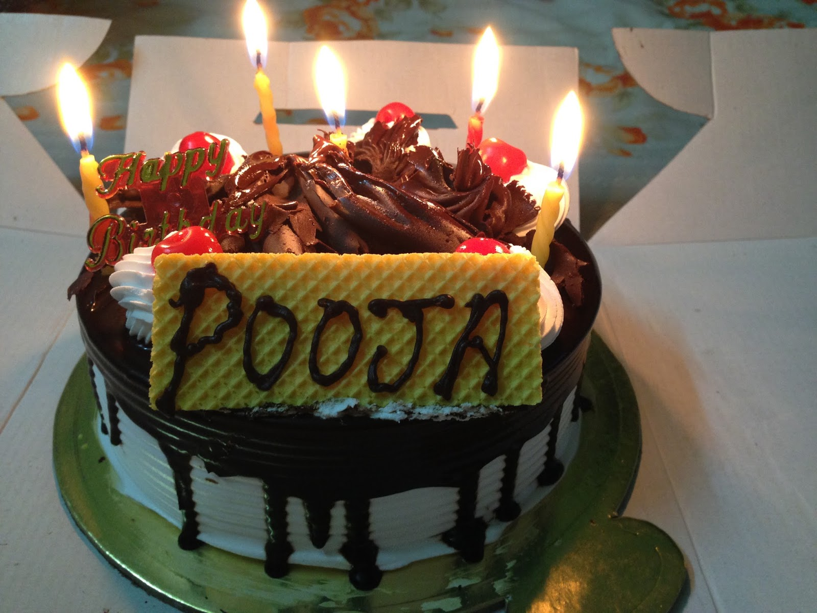 Cake Images For Pooja : Birthday Celebration