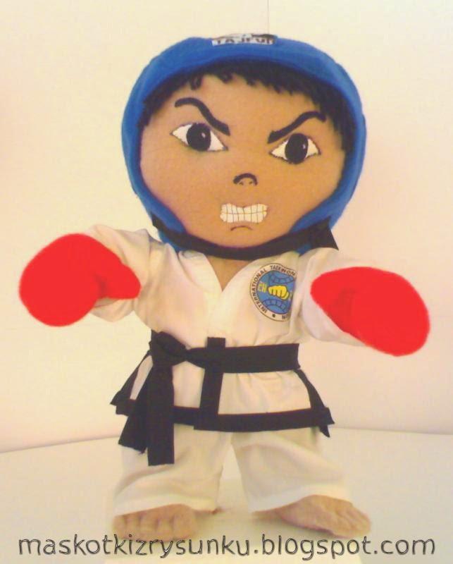 maskotka taekwondo, maskotka z rysunku
