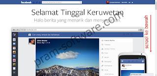 Mendapatkan Tampilan Baru Facebook