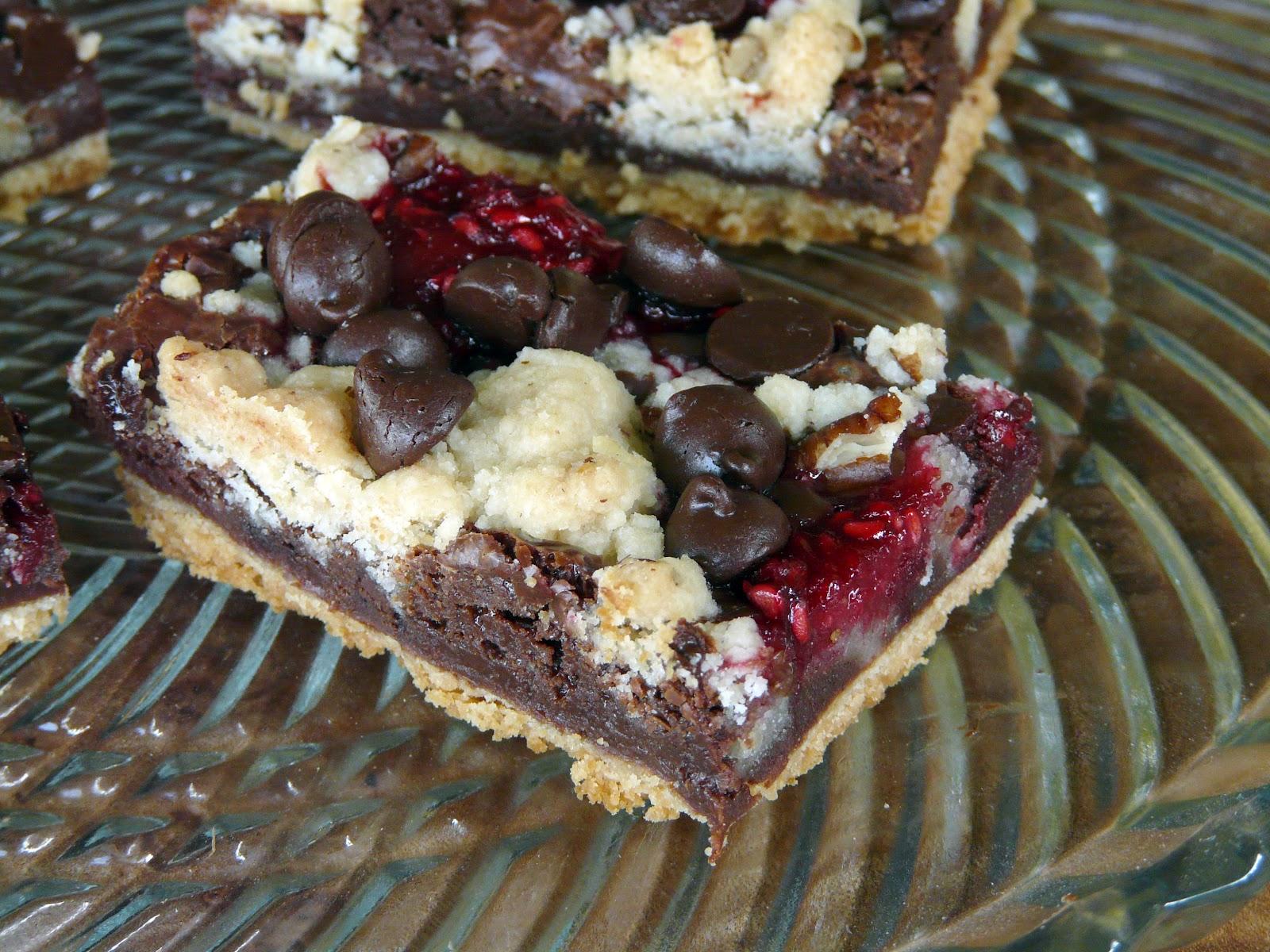 Thibeault 39 S Table Chocolate Raspberry Crumb Bars