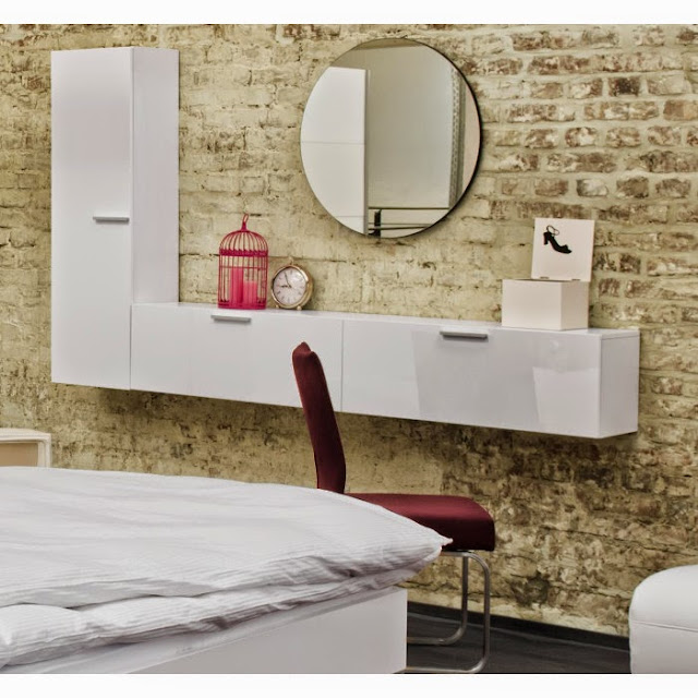 wall mounted contemporary dressing table designs ideas