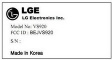 LG VS920 Passes FCC, LG Revolution 2?