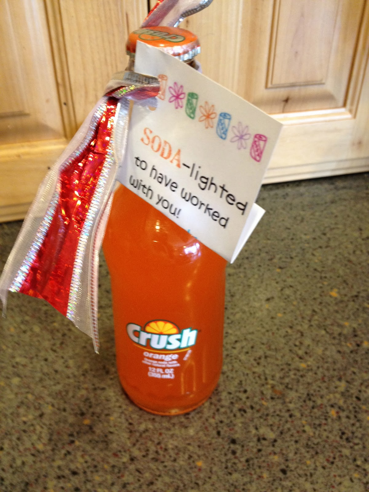 Mommy Lessons 101 Soda Lighted Thank You Gift For
