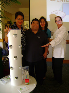 photo of KCC chef instructors with garden tower