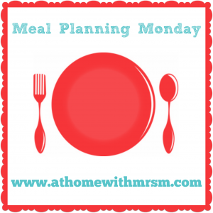 our family meal plan this week - 21/07/14