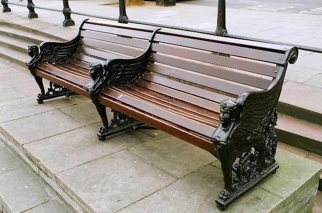 London bench Victoria Embankment