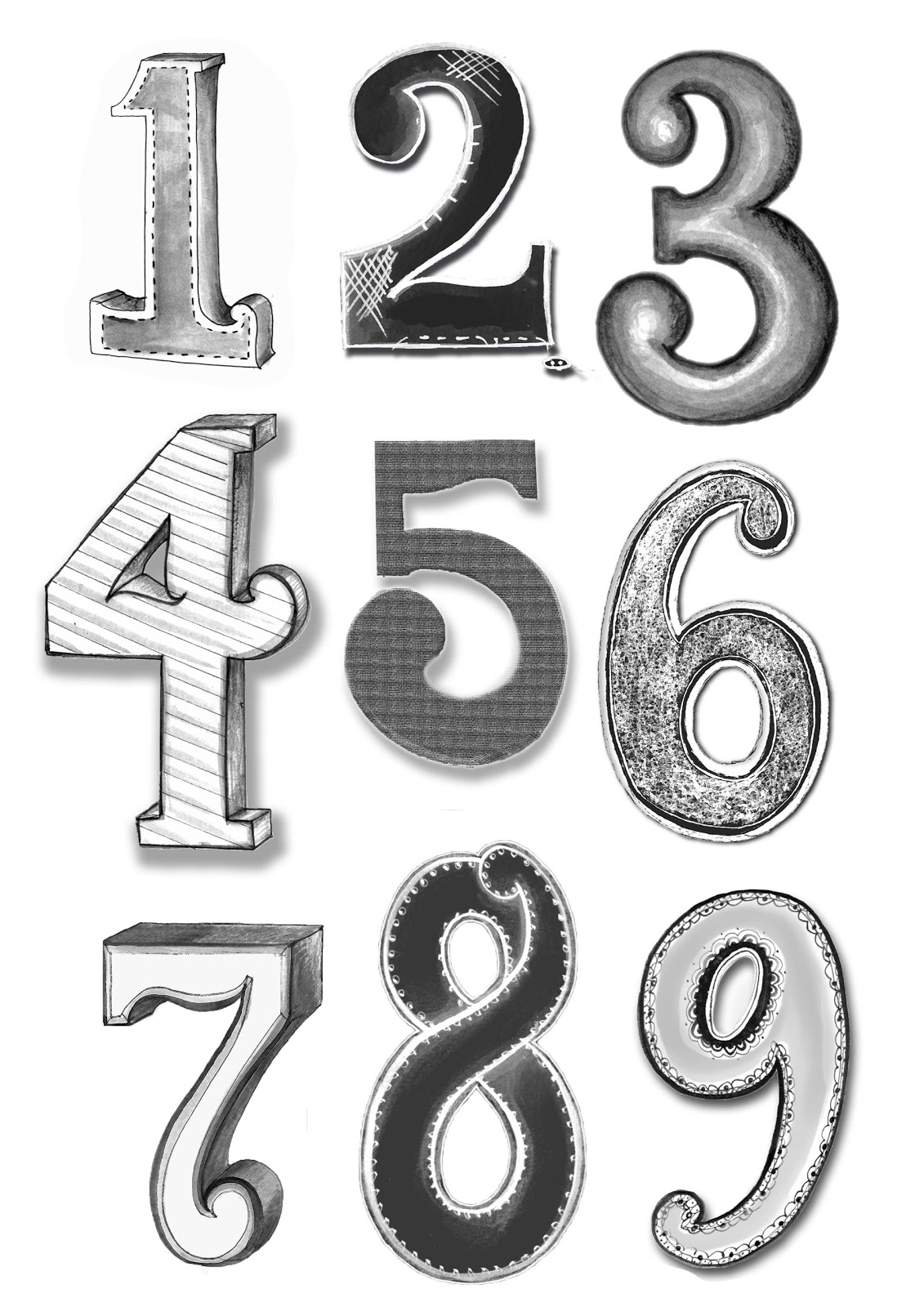 typography numbers faith wibberley