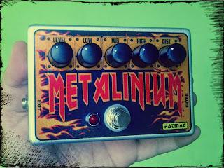 Metalinium adalah efek distorsi high gain dengan 3 band equalizer  yang memberikan nada distorsi baku dan vulgar yang terdengar mirip dengan ampli Krankenstein.