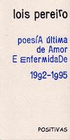 Cuberta de Poesía última de amor e enfermidade