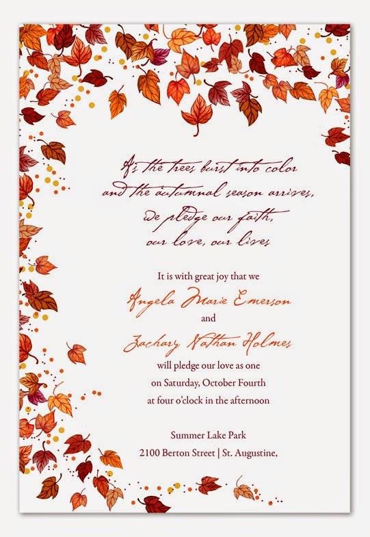 Fall Wedding Theme  Wedding Stuff Ideas
