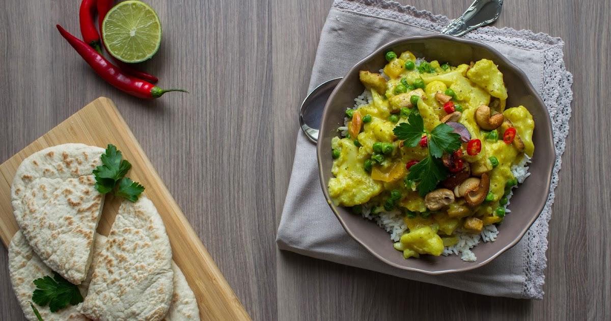gr e aus fernost thail ndischen blumenkohl curry mit tofu basmati reis frisch verliebt. Black Bedroom Furniture Sets. Home Design Ideas