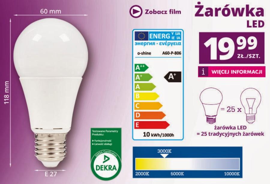 Żarówka LED z Biedronki