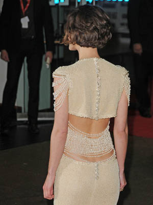 Keira Knightley Short Hair Back View