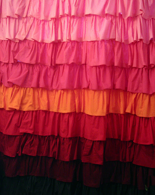 how to sew ruffled shower curtain
