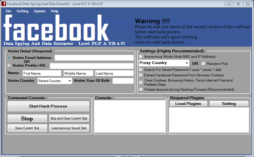 Hack FACEBOOK Profile in Just One Click