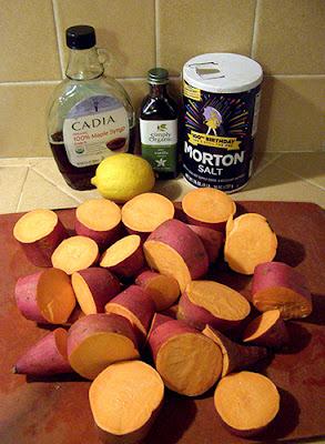 Yams, Vanilla, Maple Syrup, Lemon, and Salt