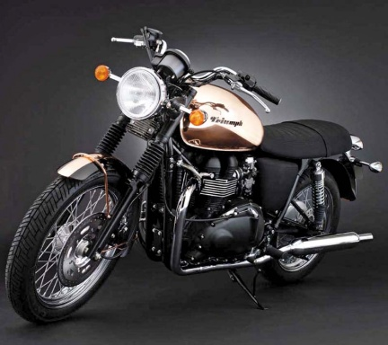 Triumph Bonneville first ride