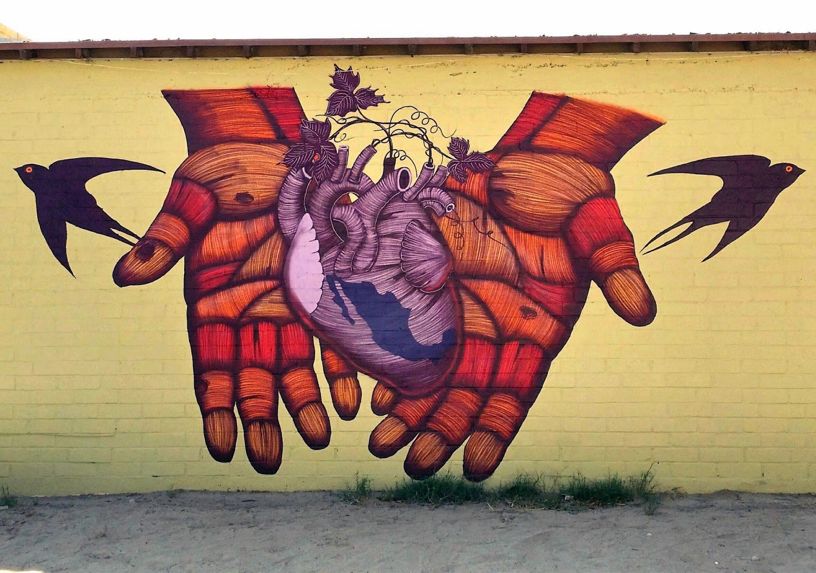 sego ovbal new mural coachella california streetartnews streetartnews. Black Bedroom Furniture Sets. Home Design Ideas